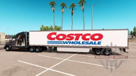 La piel Costco Wholesale trailer extendido para American Truck Simulator