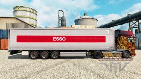 La piel de la Esso en semi para Euro Truck Simulator 2