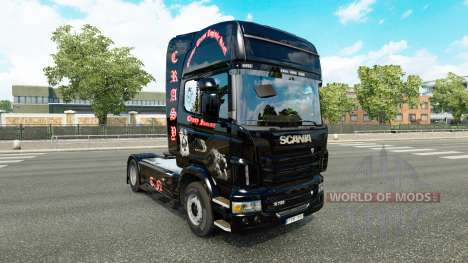 La piel Crasy Trans Logística v2.0 camión Scania para Euro Truck Simulator 2