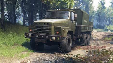 KrAZ-260 v3.0 para Spin Tires
