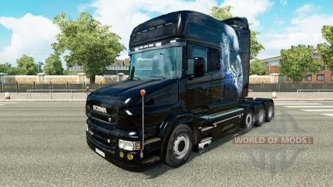 Blanco de piel de Guepardo para camión Scania T para Euro Truck Simulator 2