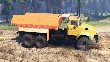 Kraz-65032 para Spin Tires