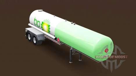 La piel de BP en un tanque de gas semi-remolque para American Truck Simulator