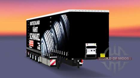 Corona de la cortina semi-remolque Fulda para Euro Truck Simulator 2