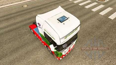 La piel ETS2Studio en el tractor Scania para Euro Truck Simulator 2