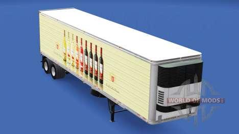 La piel de E. & J. Gallo Winery en el remolque para American Truck Simulator