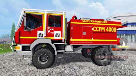 Renault Midlum Crew Cab 4x4 [sapeurs-pompiers] para Farming Simulator 2015