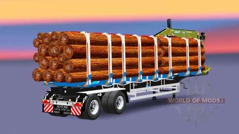 Un camión semi-remolque con carga Huttner para Euro Truck Simulator 2