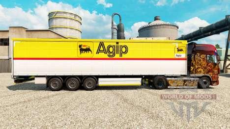 La piel Agip para remolques para Euro Truck Simulator 2
