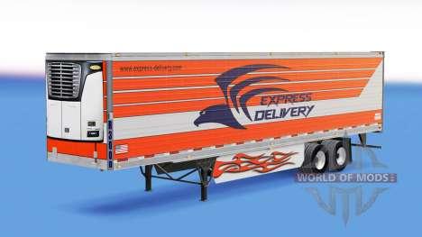 La piel de Entrega Express para remolques para American Truck Simulator