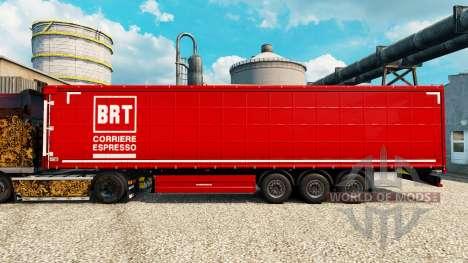 La piel de BRT en semi para Euro Truck Simulator 2