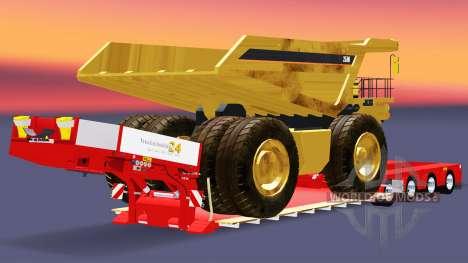 Bajo la cama de arrastre de la Muñeca Vario con  para Euro Truck Simulator 2