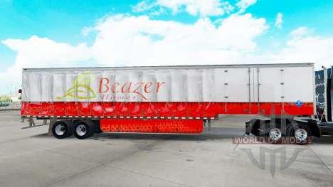 La piel Beazer Casas en una cortina semi-remolqu para American Truck Simulator