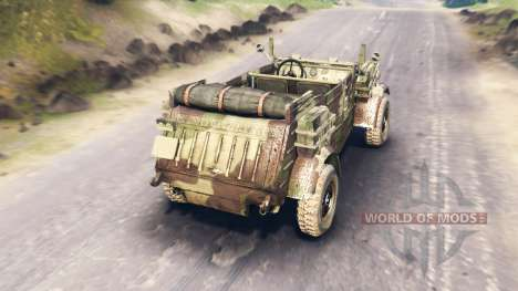 Volkswagen Typ 82 (Kubelwagen) para Spin Tires