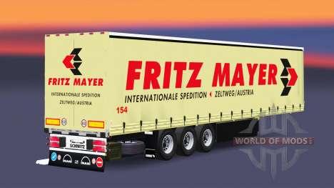 Cortina semi-remolque Schmitz Fritz Mayer para Euro Truck Simulator 2