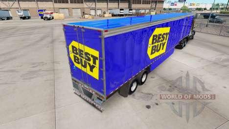 La piel de Best Buy en cortina semi-remolque para American Truck Simulator