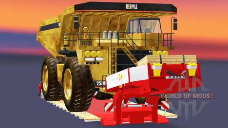 Baja de barrido con el volcado de camiones Cater para Euro Truck Simulator 2