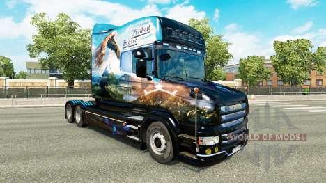 Grosse Freiheit piel para Scania camión T para Euro Truck Simulator 2