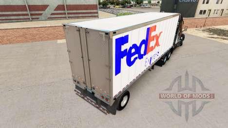 La piel de FedEx pequeño remolque para American Truck Simulator