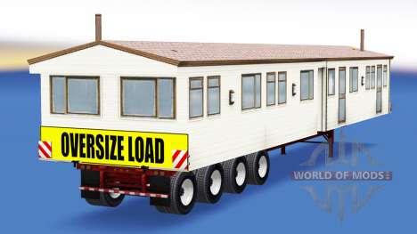 Una colección de trailers con diferentes cargas  para American Truck Simulator