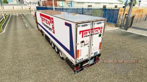 Semi-remolque frigorífico Chereau Toten Transpor para Euro Truck Simulator 2