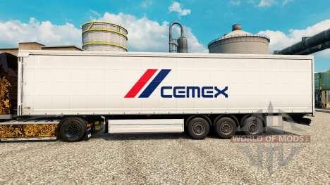 La piel de Cemex para remolques para Euro Truck Simulator 2
