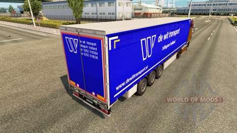 La piel De Ingenio de Transporte en semi-remolqu para Euro Truck Simulator 2