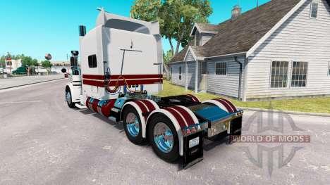 El Caballero Blanco de la piel para el camión Pe para American Truck Simulator