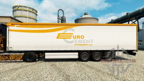 La piel Eurocement grupo en semi para Euro Truck Simulator 2