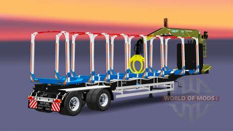 Un camión semi-remolque Huttner para Euro Truck Simulator 2