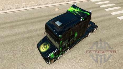 Monster Energy de la piel para el Scania T tract para Euro Truck Simulator 2