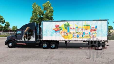 La piel de Dole en pequeño remolque para American Truck Simulator