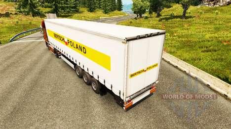 La piel Bertschi Polonia en las semifinales para Euro Truck Simulator 2