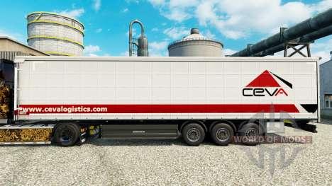 Ceva Logistics piel para remolques para Euro Truck Simulator 2
