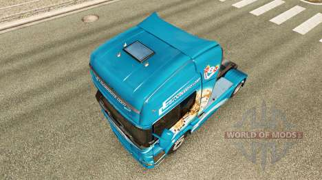 La piel Leonado tractor Scania para Euro Truck Simulator 2