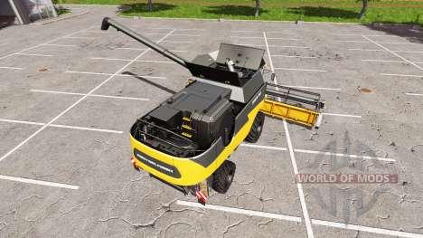 Rostselmash Tora 760 me naranja para Farming Simulator 2017