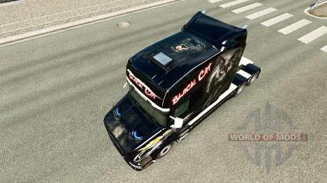 Gato negro de la piel para Scania camión T para Euro Truck Simulator 2