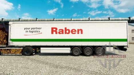 Raben de la piel para remolques para Euro Truck Simulator 2