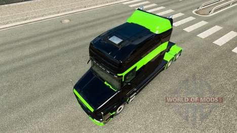 Piel verde-Negro-para camión Scania T para Euro Truck Simulator 2