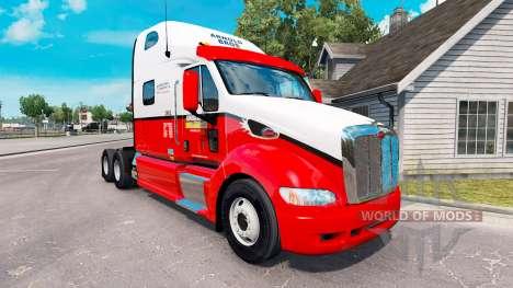 La piel de Arnold Bros tractor Peterbilt 387 para American Truck Simulator