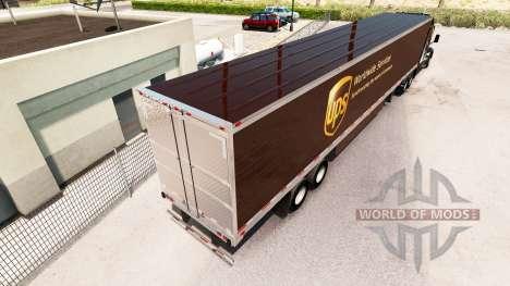 La piel UPS trailer extendido para American Truck Simulator