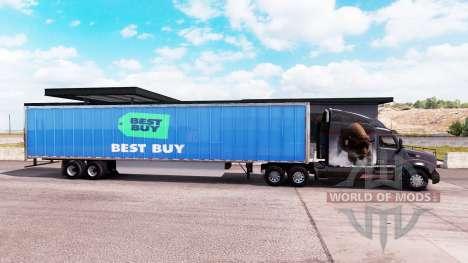La piel de Best Buy trailer extendido para American Truck Simulator