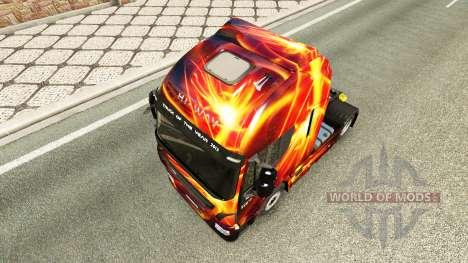 El fuego de Efecto piel de Iveco tractora para Euro Truck Simulator 2