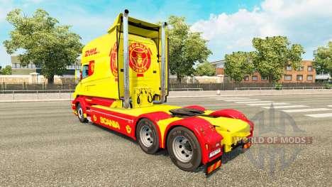 La piel de DHL para Scania camión T para Euro Truck Simulator 2