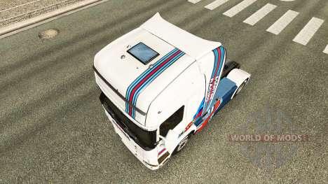 La piel Martini Rancing en el tractor Scania para Euro Truck Simulator 2