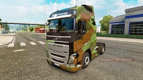 De camuflaje de piel para camiones Volvo para Euro Truck Simulator 2