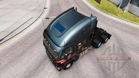La piel Tío Sam en el camión Freightliner Argosy para American Truck Simulator