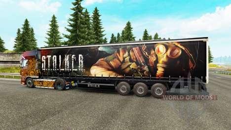 La piel de S. T. A. L. K. E. R. en semi para Euro Truck Simulator 2