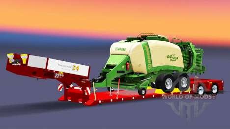 Baja de barrido con empacadora de pacas para Euro Truck Simulator 2