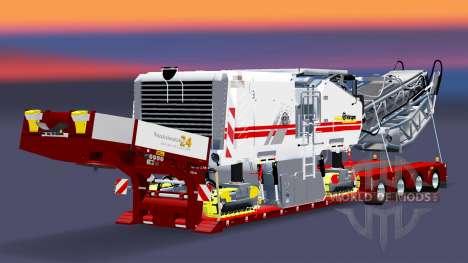 Baja de barrido con una carga cepilladoras v3.0 para Euro Truck Simulator 2